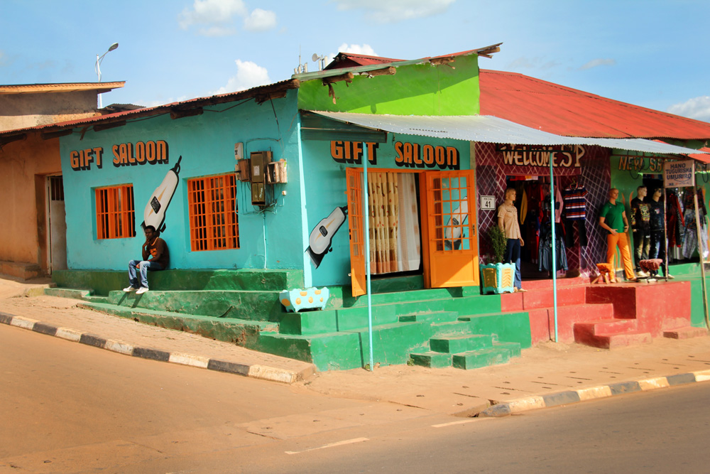 Shops in Kigali's Nyamirombo district