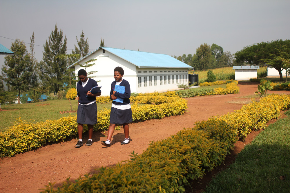Two girls at the Cornerstone Leadership Academy