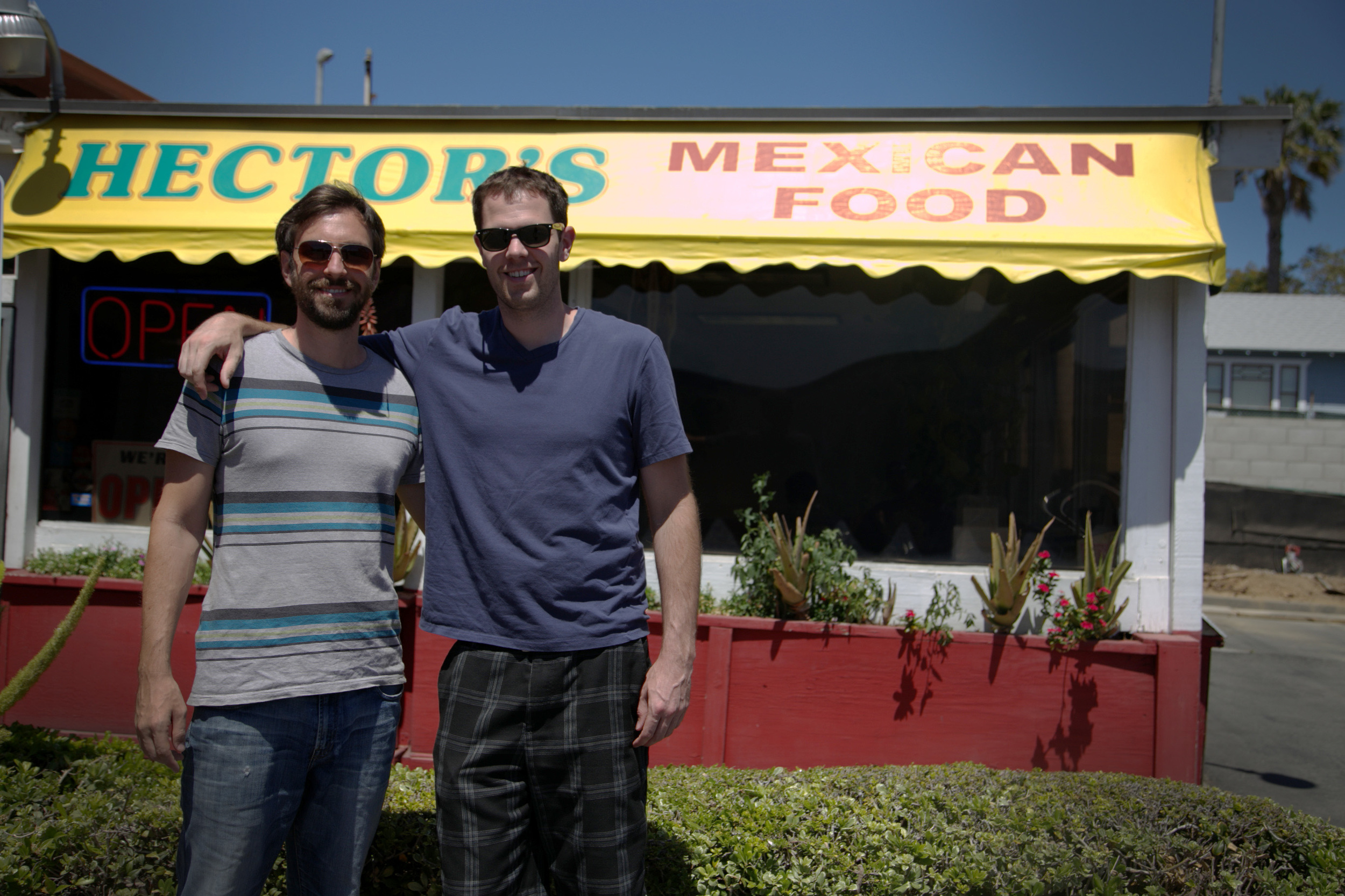 Hector's Mexican food - John's favorite