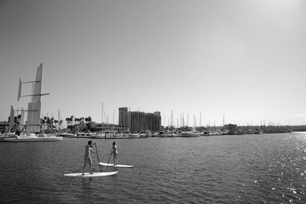 Our first time paddle boarding