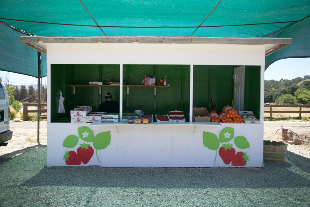 California fruit stand