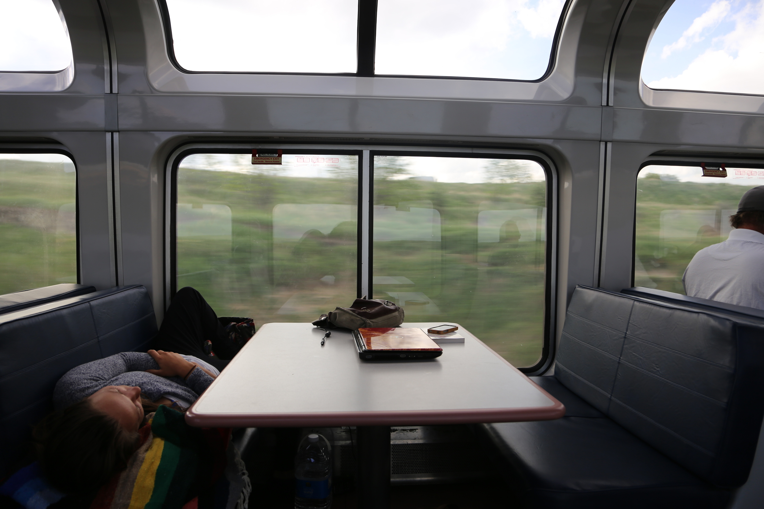 Nap time on the train