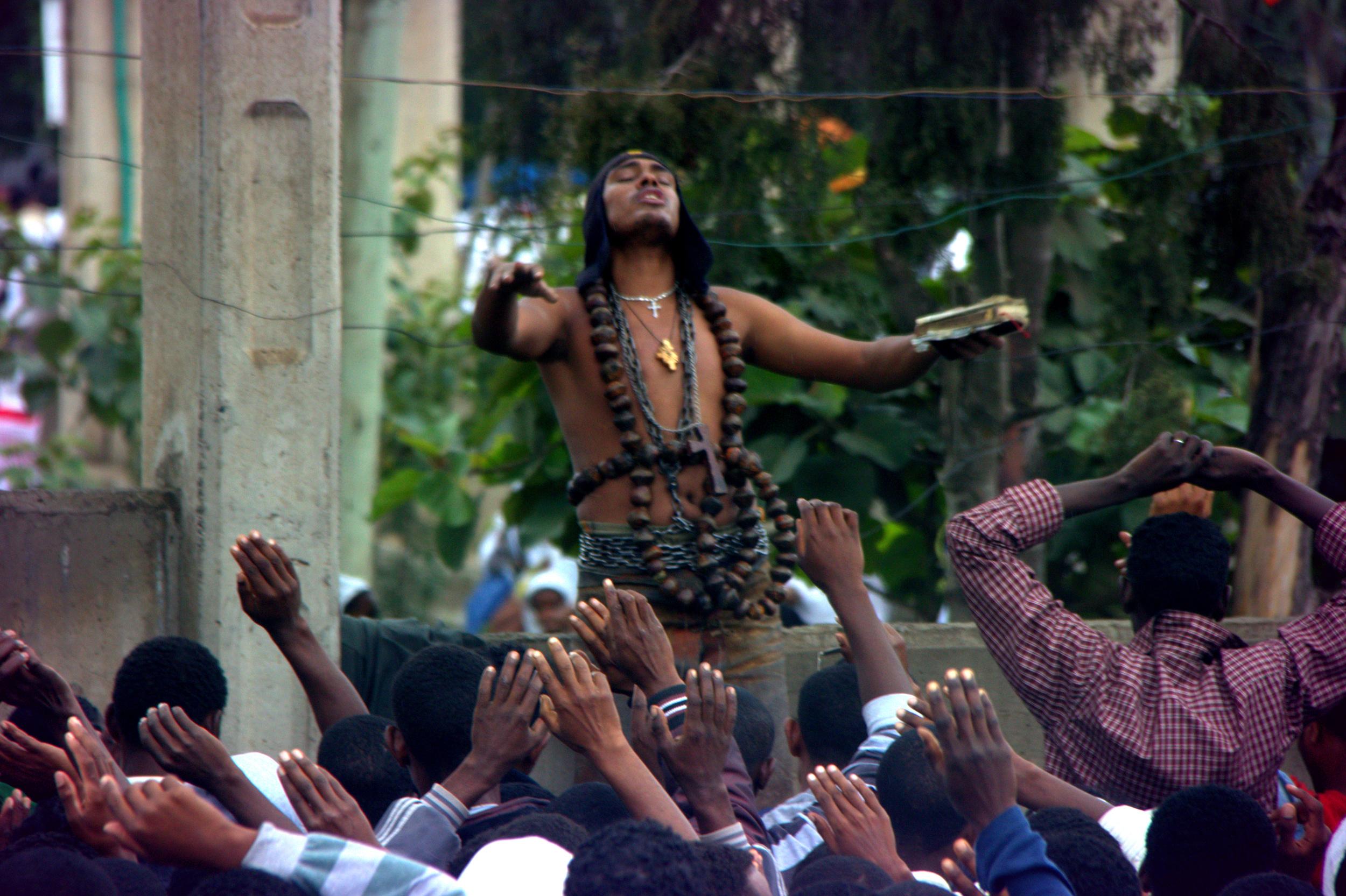 26.7.12 Prophet speaking at Ethiopian St. Gabriel's celebration.jpg