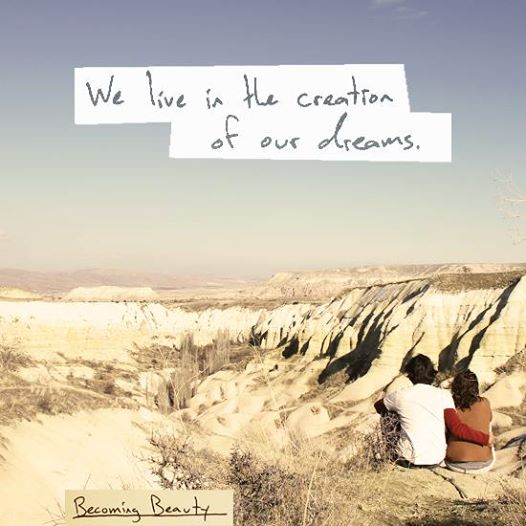 Excerpt from a poem by  my husband . Photo taken of us in Capadoccia, Turkey.