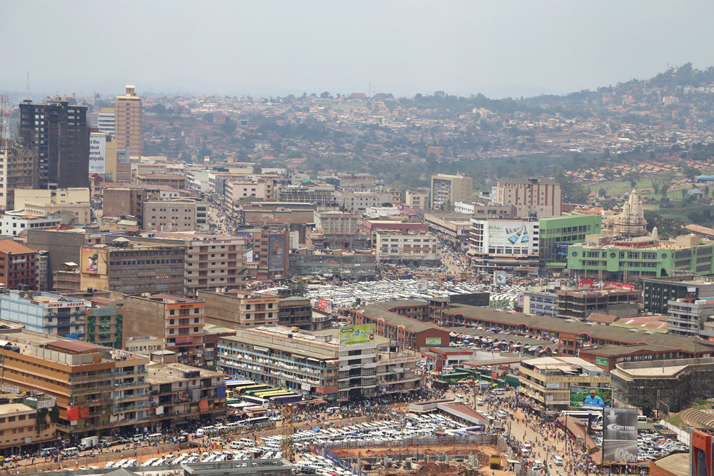 View of Kampala from atop the minaret