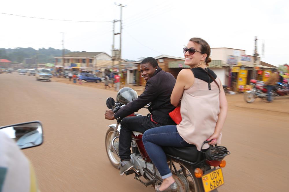 boda ride, Kampala, Uganda