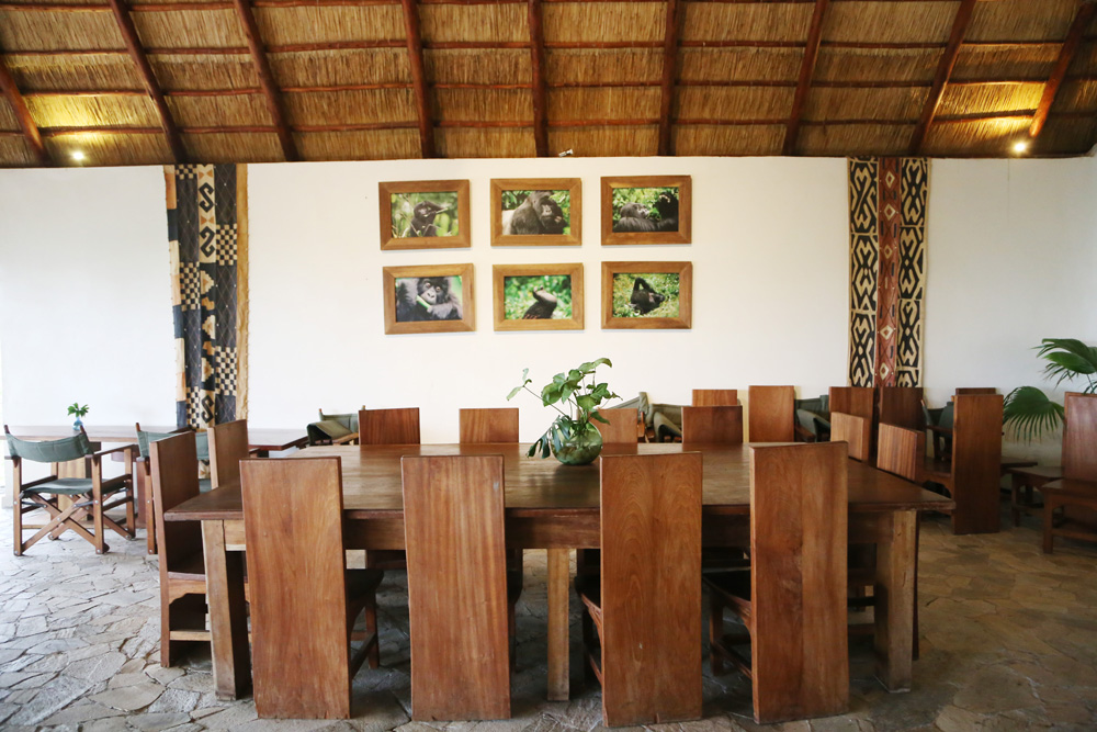 Mikeno lodge, dining area