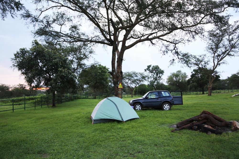 camping at ziwa rhino sanctuary