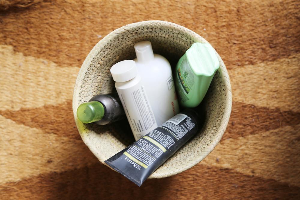 why i threw away my hair products