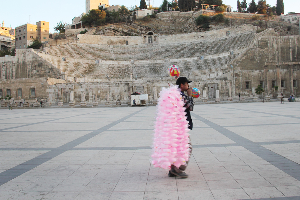 The Roman coliseum in Amman