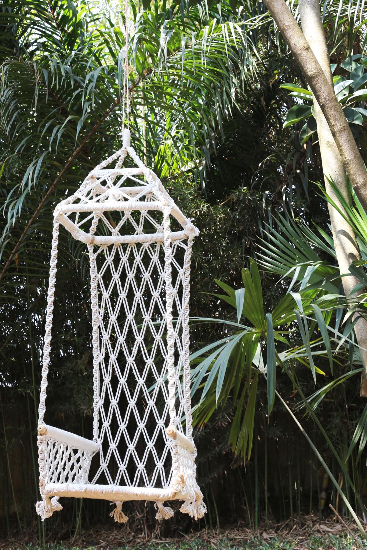 macrame garden swing