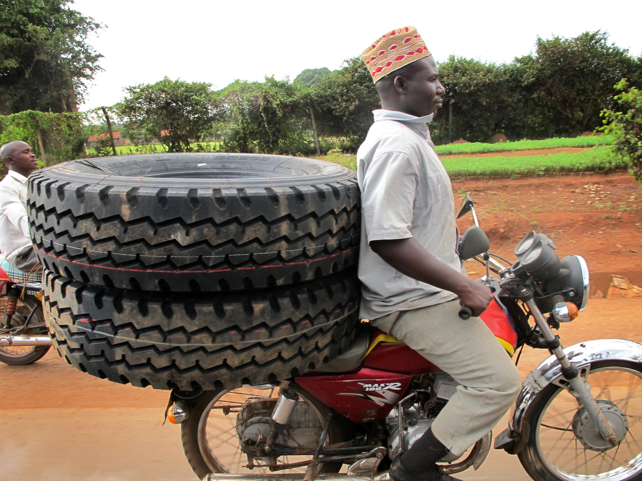 tires on a boda