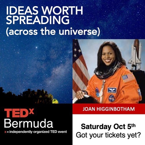 Astronaut Joan Higginbotham will take to the TEDxBermuda stage next Saturday to share her journey to space and beyond. Hear from Joan and 9 other presenters on Saturday Oct. 5th at TEDxBermuda. link for tickets in Bio.  #tedx  #nasa #bermuda  #outhere  #space