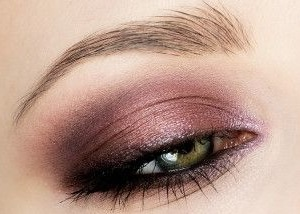 For a more smokey effect I mixed the Plum with the Gold shadow and applied all over the lid. The Plum shade was used on it's own along the top and lower lash lines for added drama.