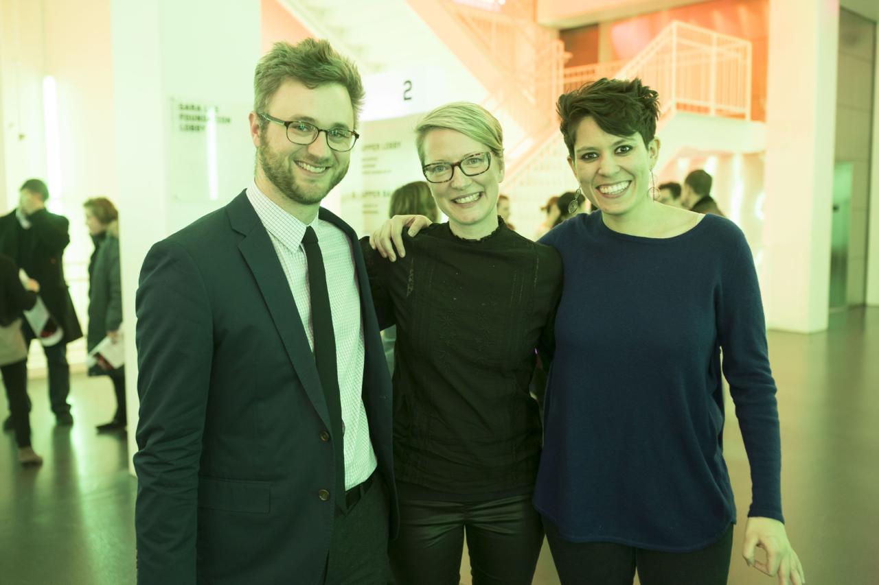 Sam Adams, Amy, Elizabeth Ogonek @post-premiere reception, Chicago 2018