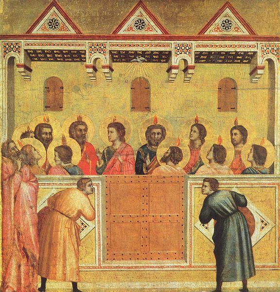 """""""Pentecost"""" by Giotto di Bondone ca. 1300"""