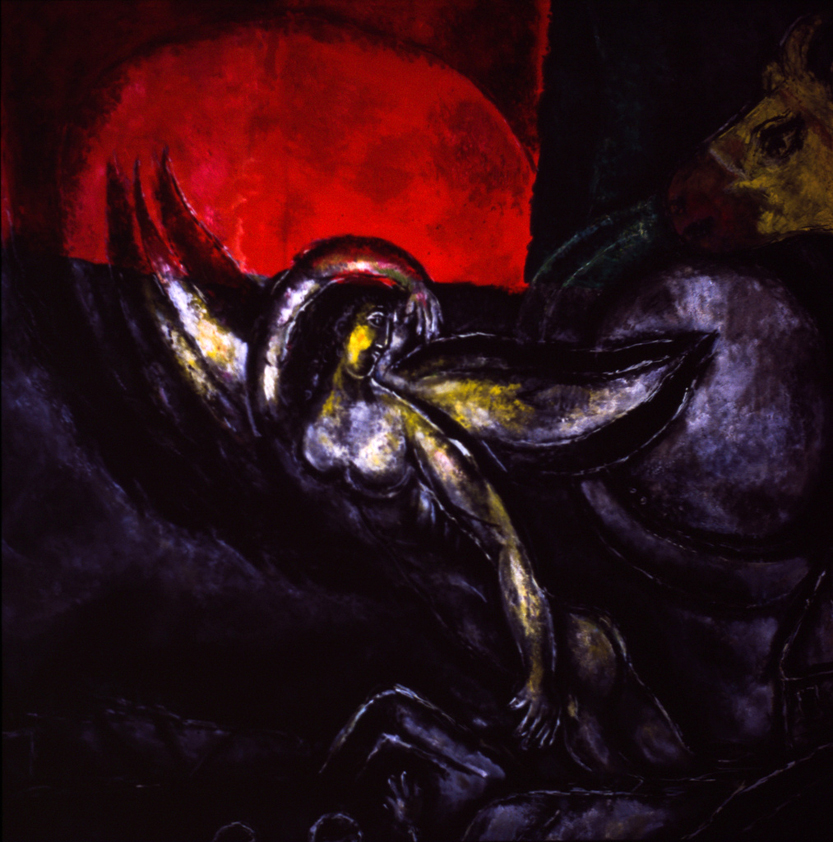 Chagall, Marc, 1887-1985. Passover Angel of Death (detail), from   Art in the Christian Tradition  , a project of the Vanderbilt Divinity Library, Nashville, TN