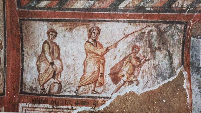Moses Striking the Rock, from   Art in the Christian Tradition   , a project of the Vanderbilt Divinity Library, Nashville, TN.