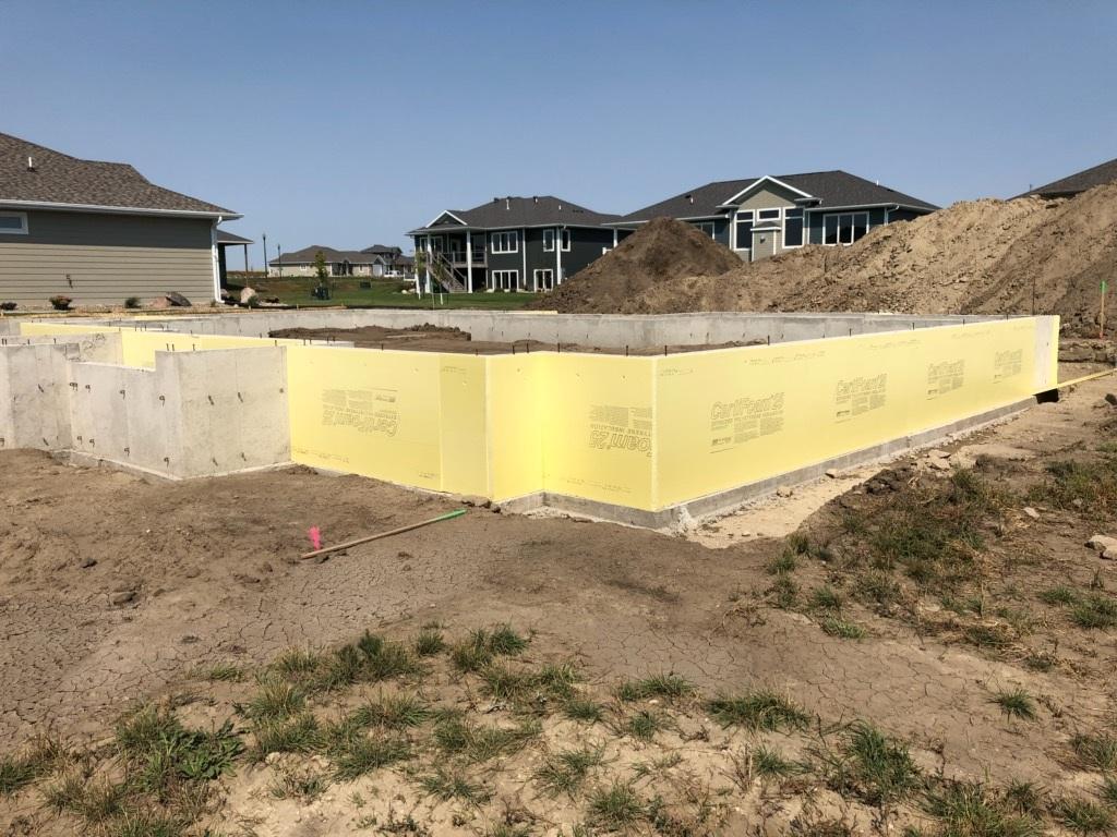 Insulation around the foundation