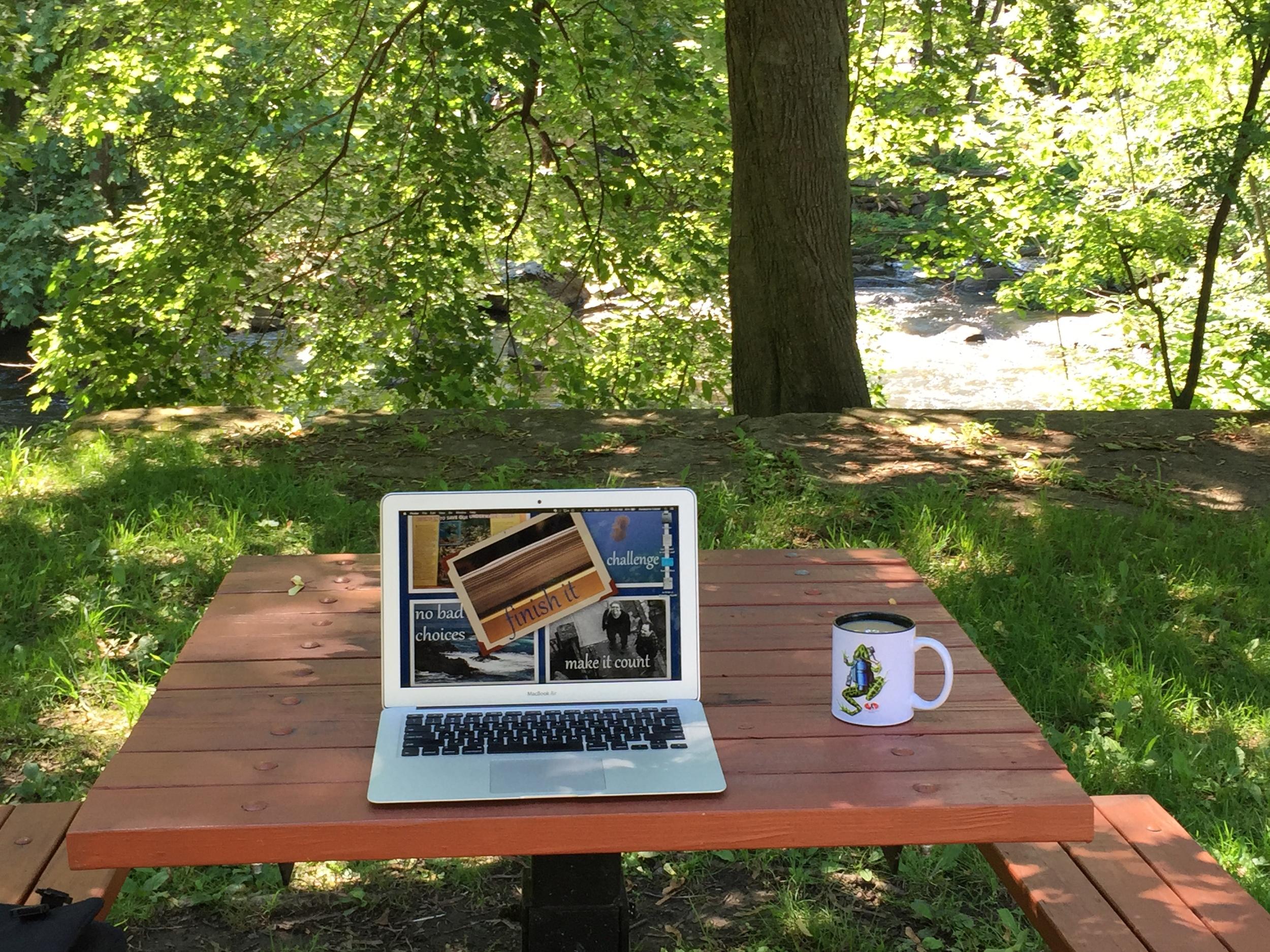 Portable Office, Summer Edition: Writing Wherever the Wander Takes Me! // Photo Credit: J. Elizabeth Clark/Liz Summit