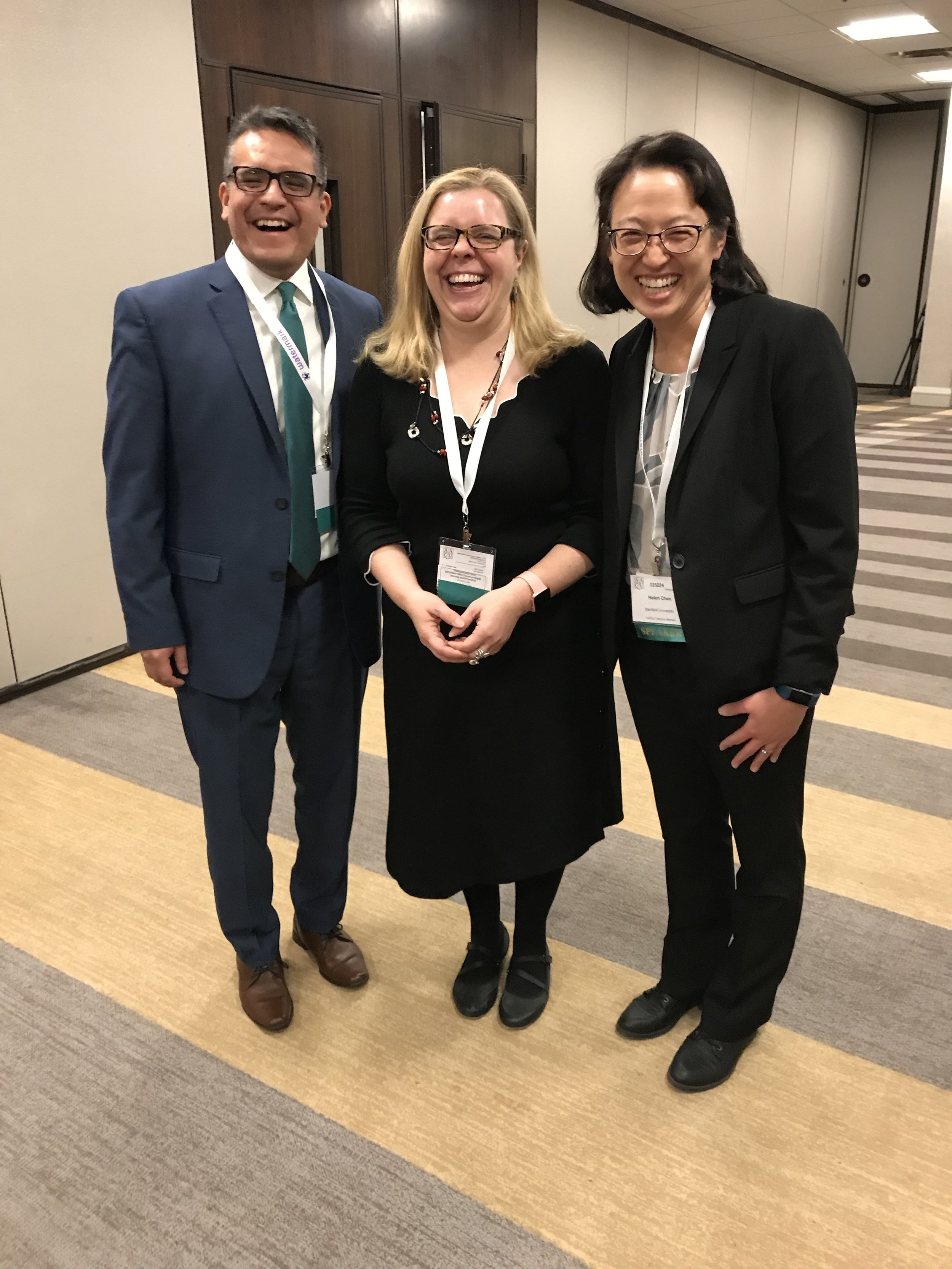 With Pablo Avila and Helen Chen, AAC&U, 2019