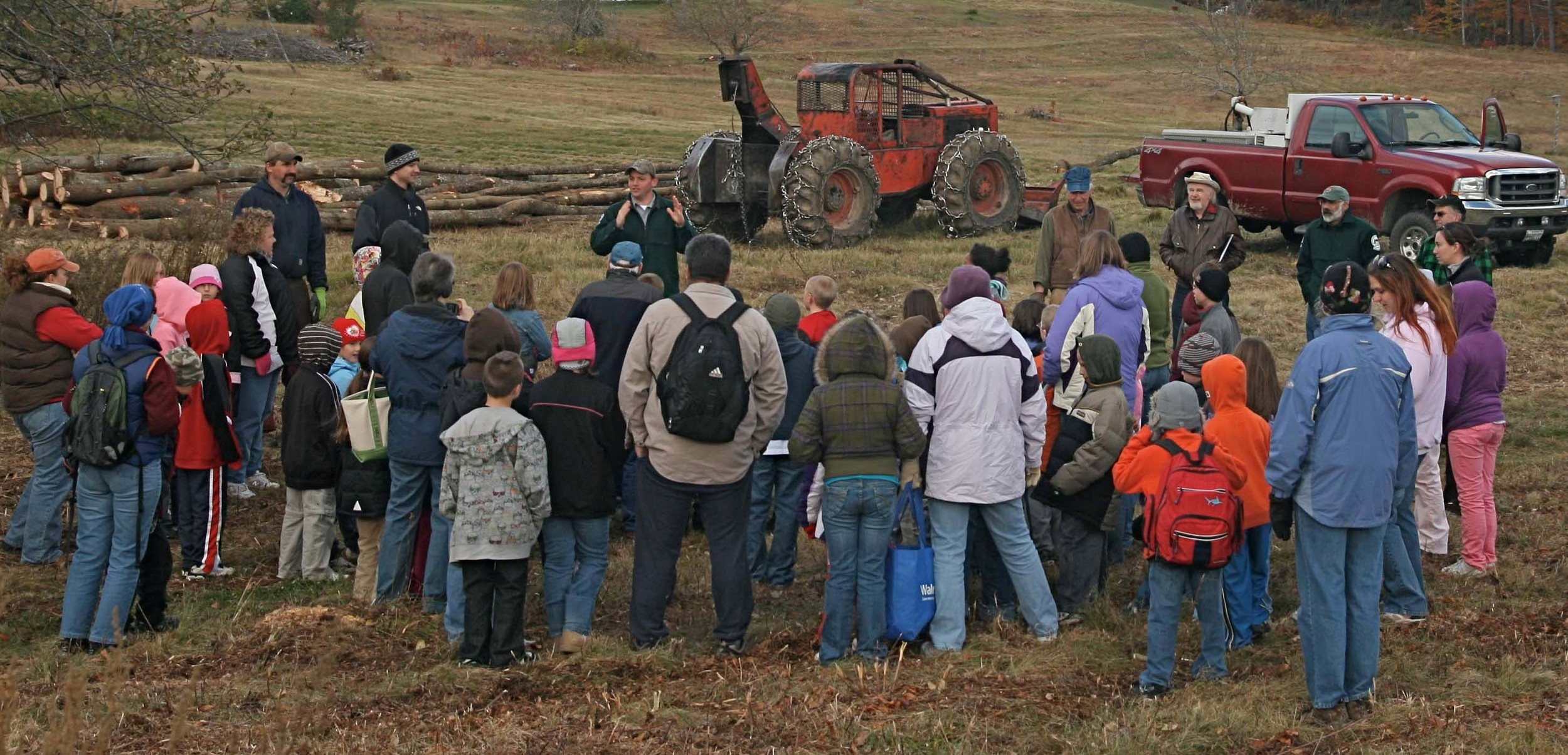 Sustainable Forestry Education Program at Curtis Homestead in Leeds.           Jym St. Pierre