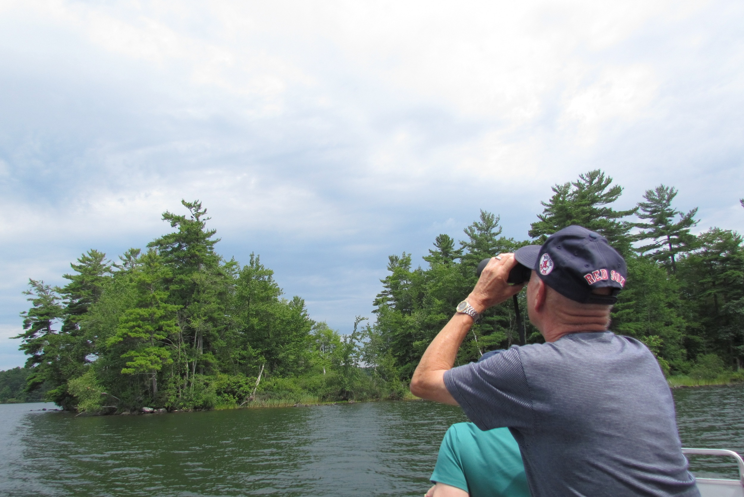 2014 Loons and Eagles on Cobbossee Lake program. Photo: Gina Lamarche