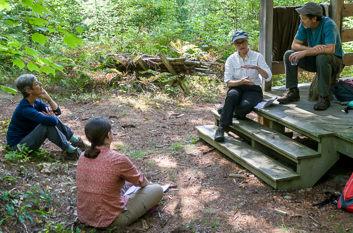 KLT Outing Club at the Peter Miller Woodland in Vienna, Maine.  Marc Loiselle