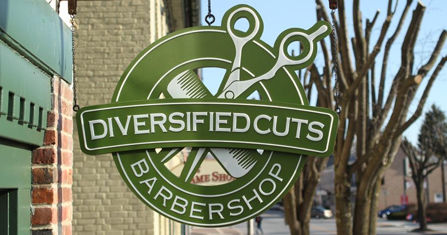 Signs | Diversified Cuts Hanging Sign | Hanover, PA
