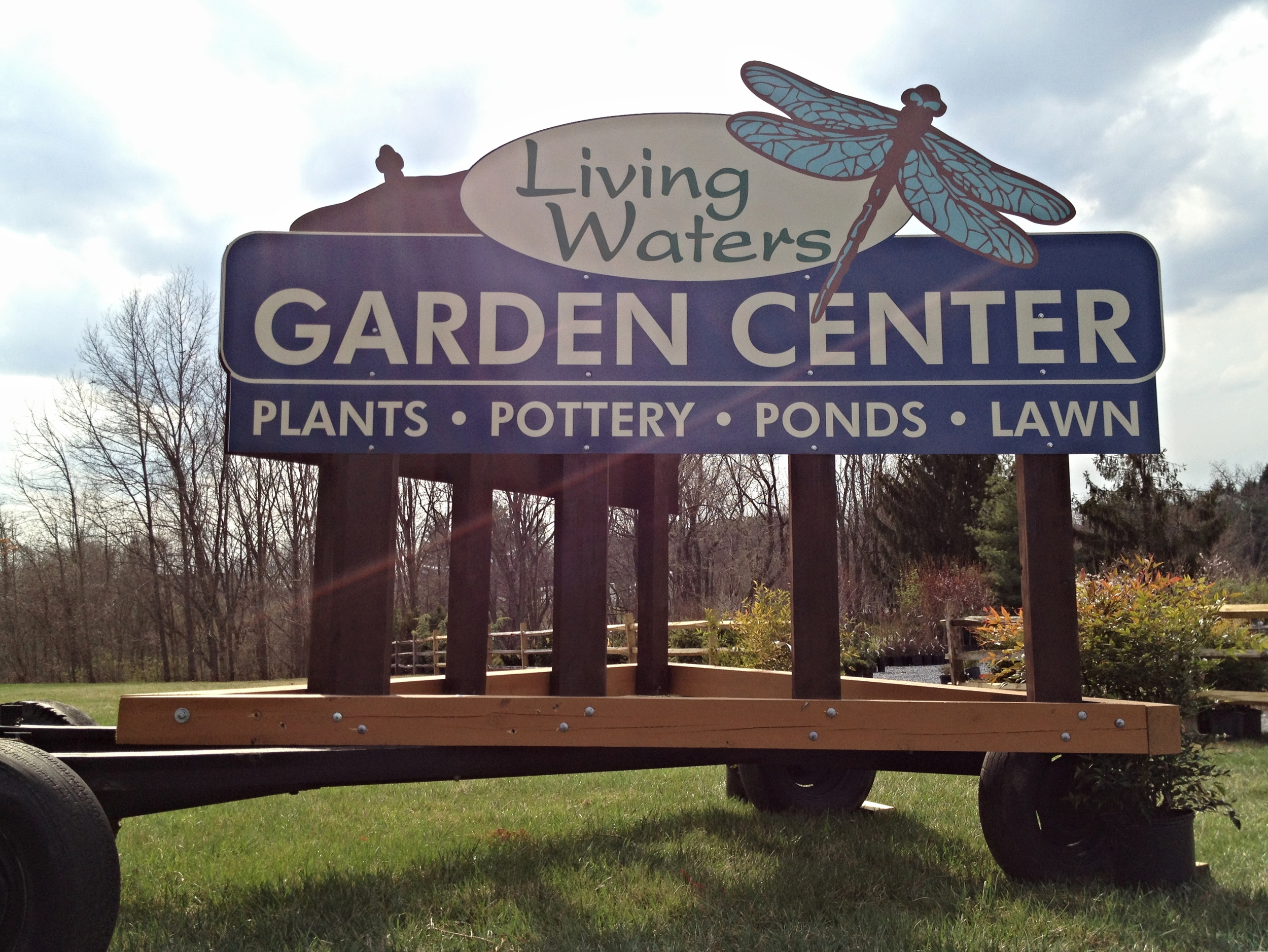 Signs | Living Waters Garden Center Sign | Westminster, MD