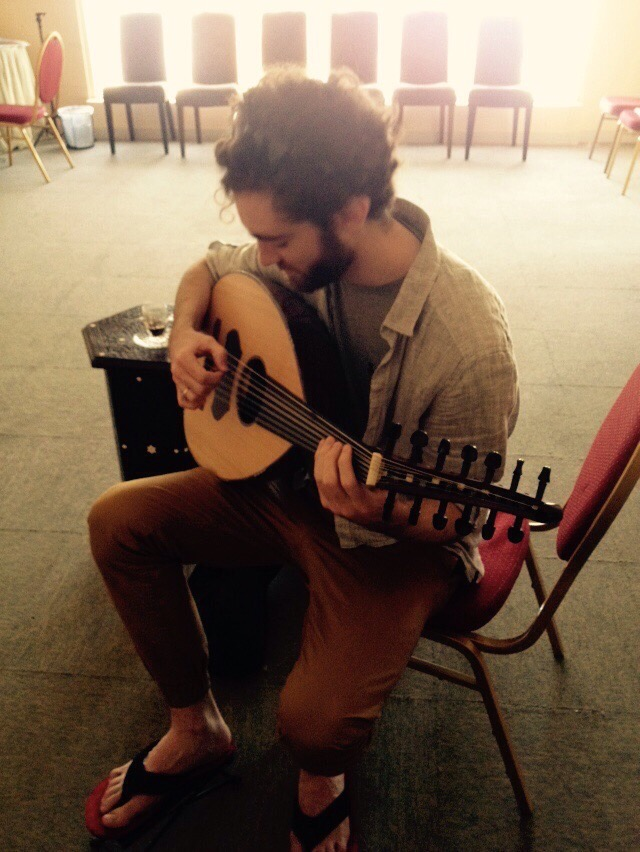 Learning Oud at Beit al Oud in Abu Dhabi.