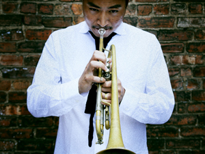 """Brilliant and soulful trumpeter,    Takuya Kuroda    reached #3 on the Jazz Radio charts with the release of his 2011 album, """"Edge"""" and is hoping to continue this success as he begins work on his upcoming album. Takuya recorded his 7 piece band live in the Mezzanine."""