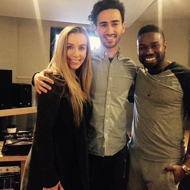 Engineer Sam Palumbo with Lisa Lavie and Orlando Dixon