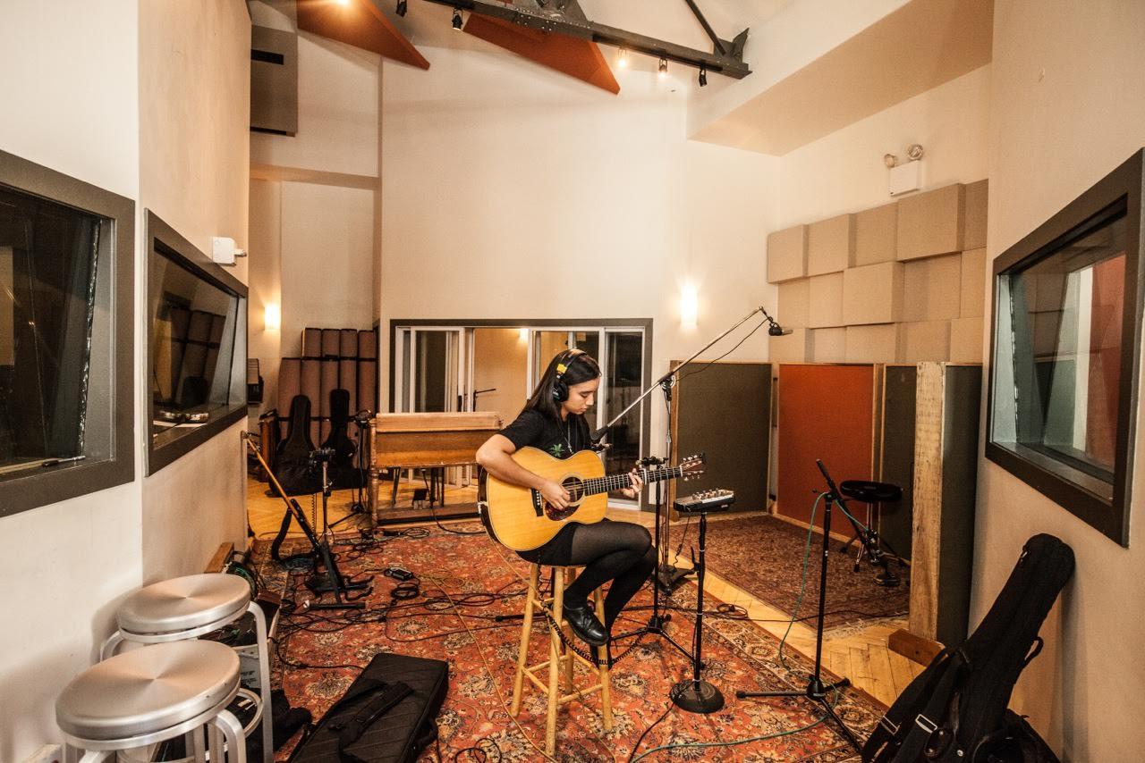 Raye Zaragoza recording in the mezzanine's live room. (Photo: Desmond White)