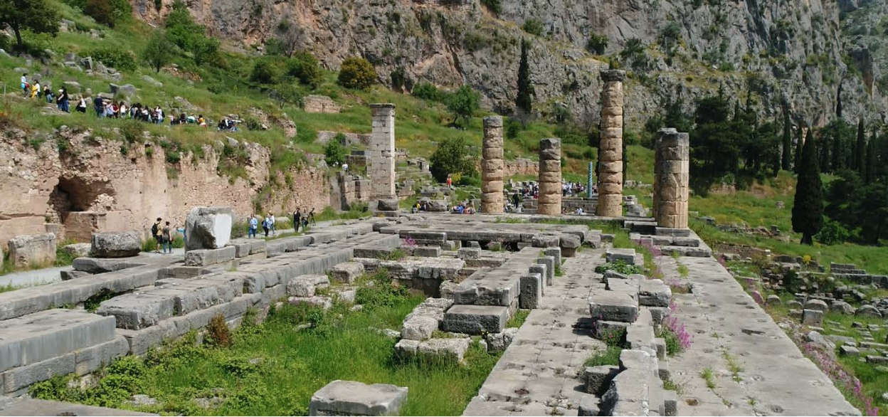 The Temple of Apollo, Delphi (courtesy of  Live From Lincoln Center ).