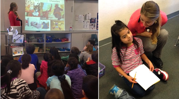 Kati Hites loves to visit schools and talk to young writers!