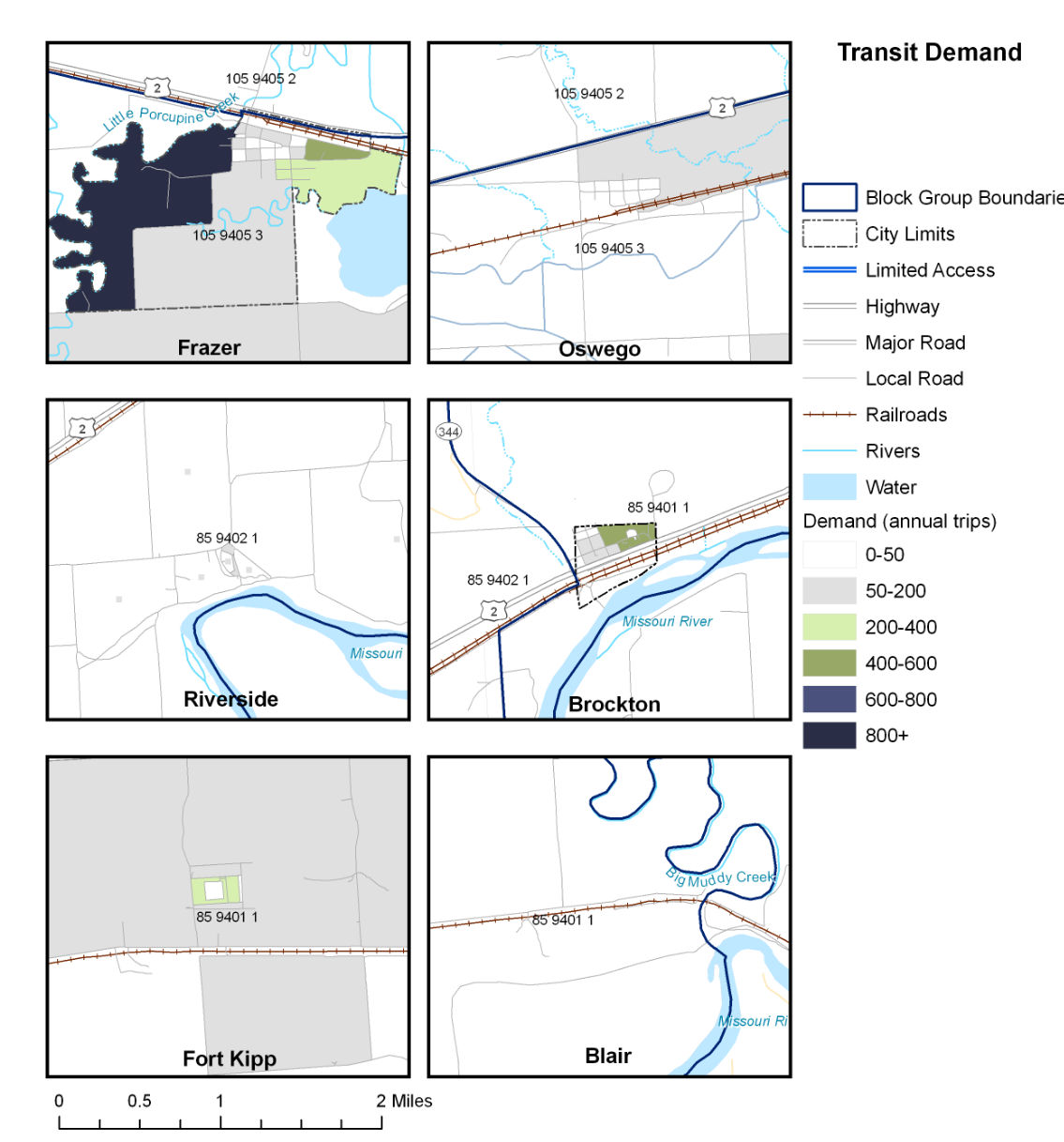 Small community transit demand. Click to enlarge.