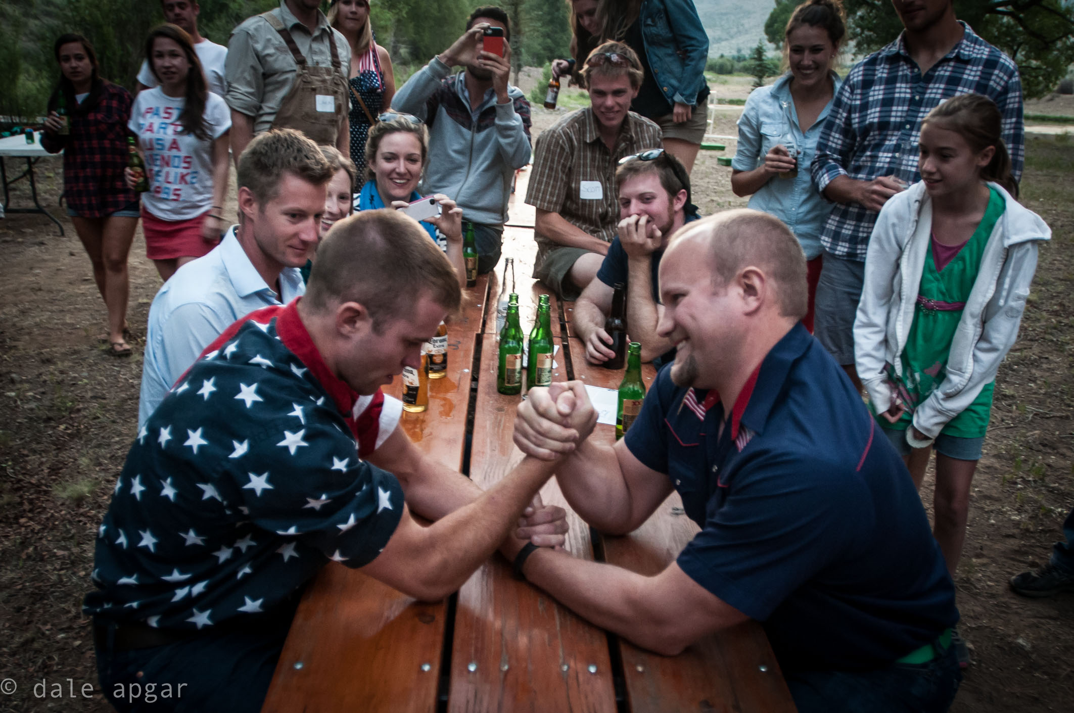Beers and arm wrestling...'Merica