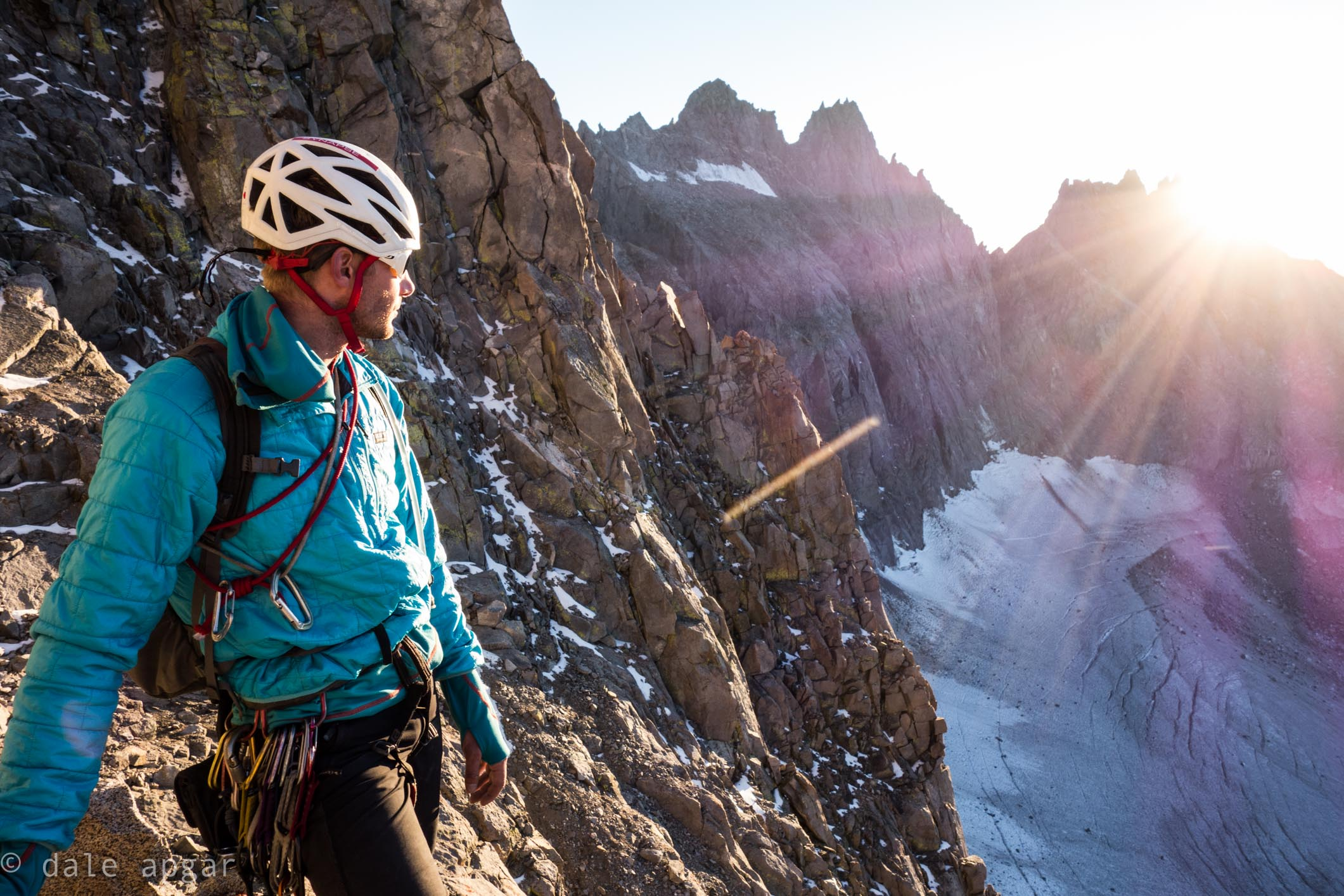Jeff taking in a sunset while descending The Sierra's Mt. Sill
