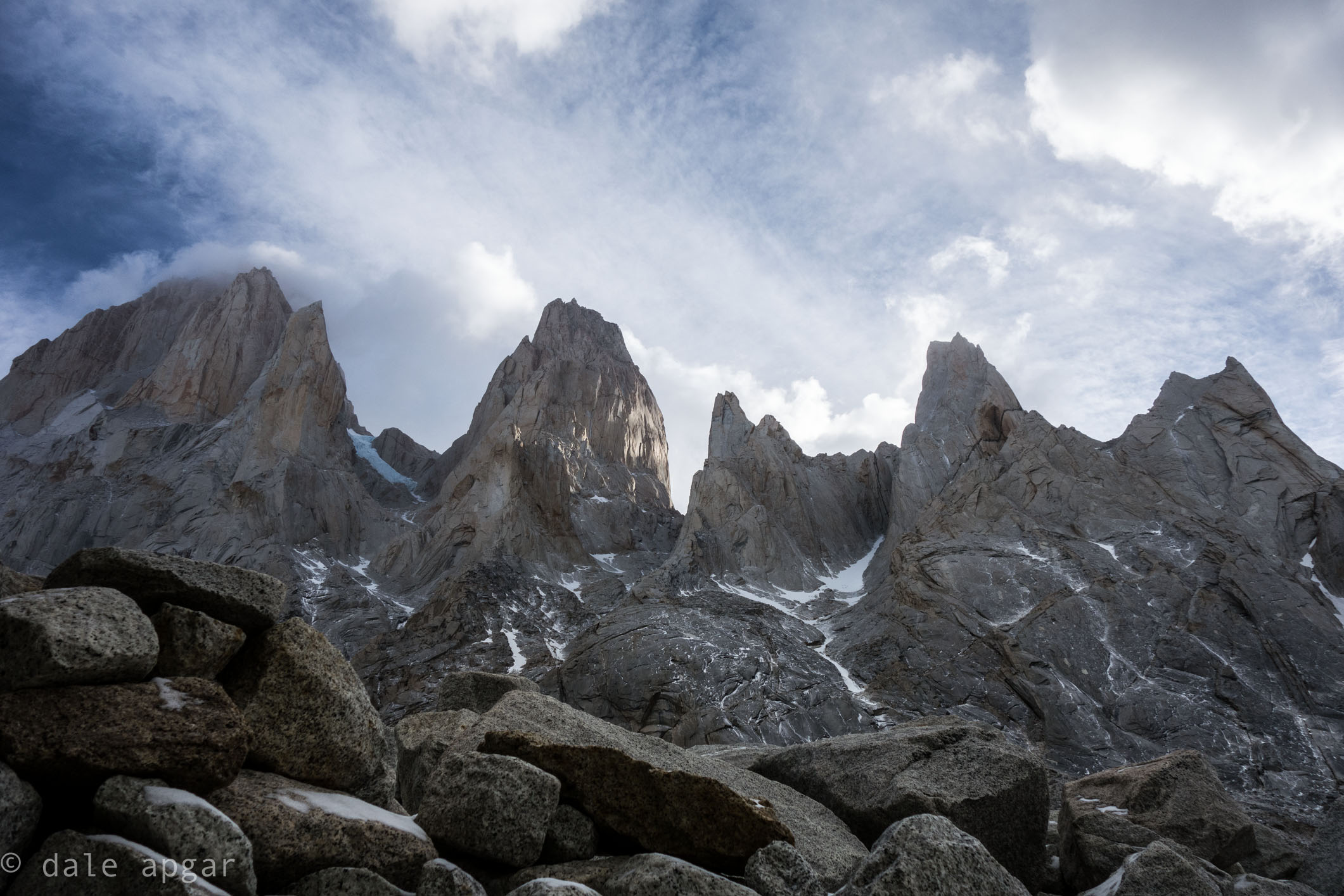 The mighty Fitz Roy Massif from the Torre Glacier