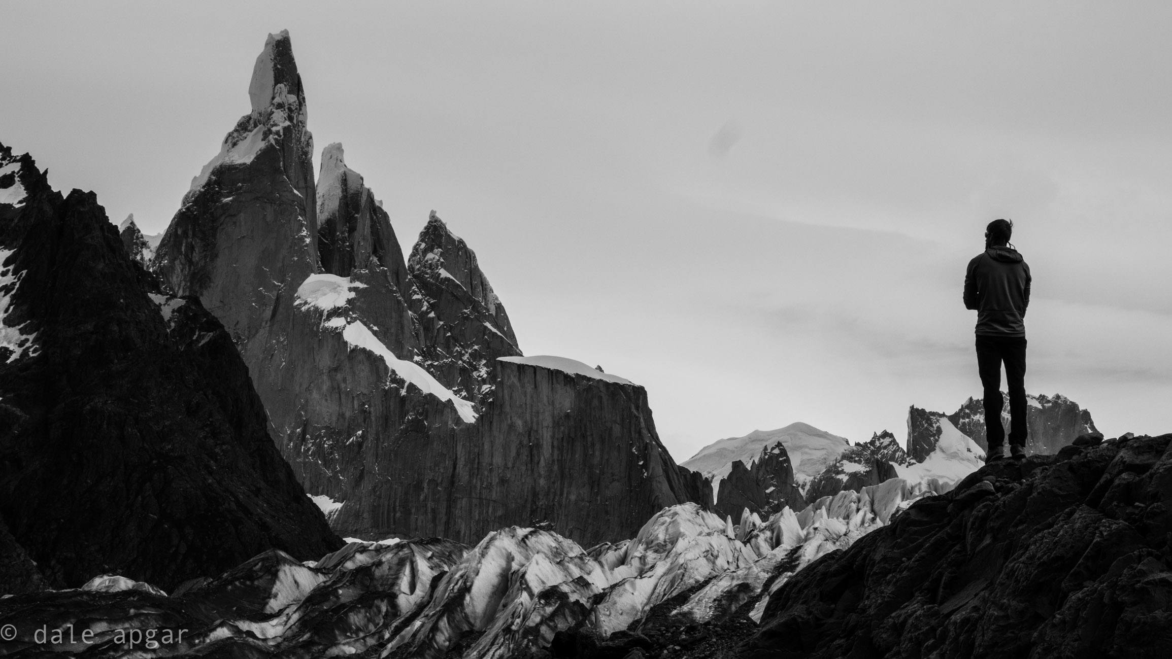 Staring back at the Torre Massif