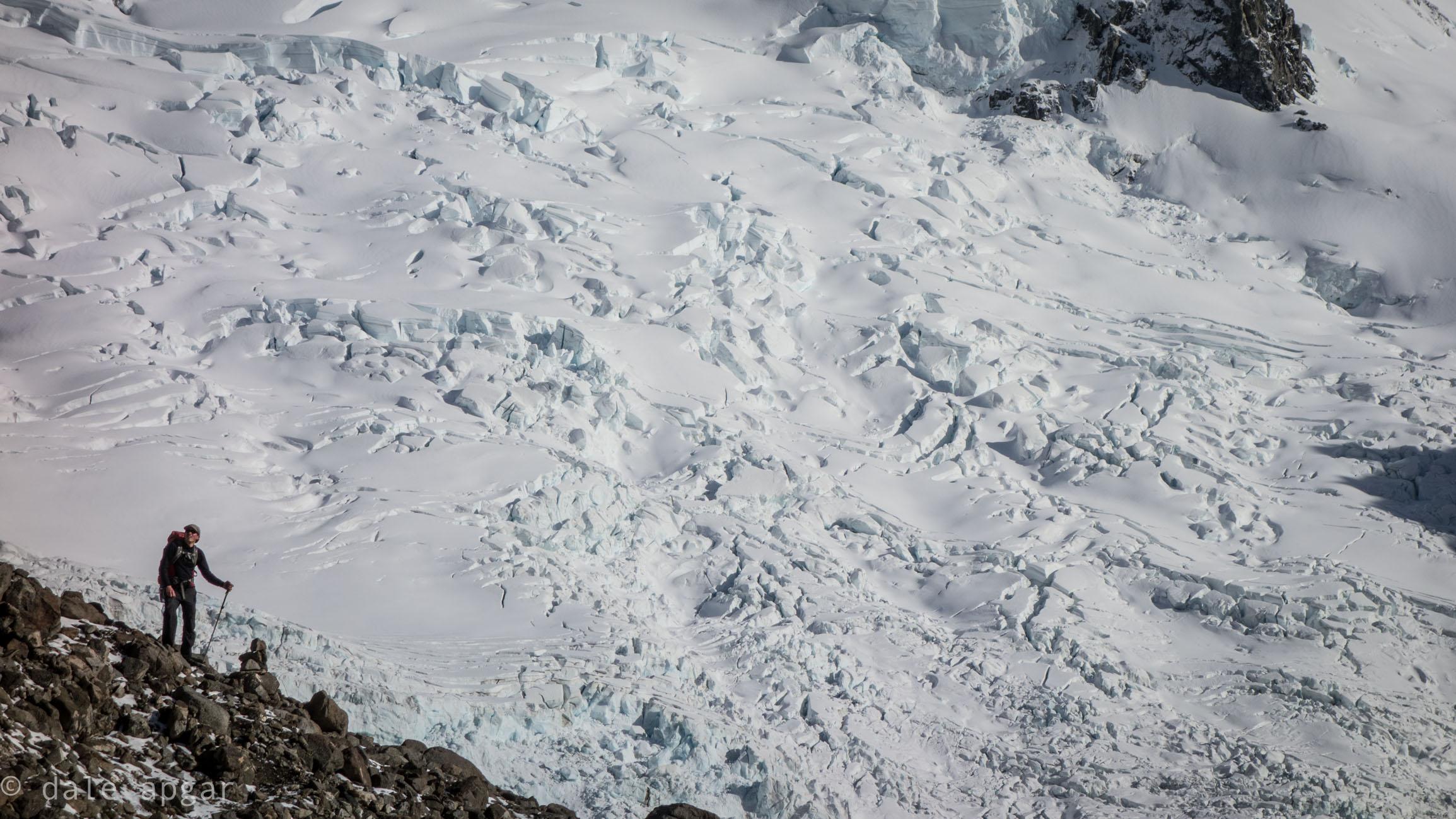 The glaciers below Poincenot