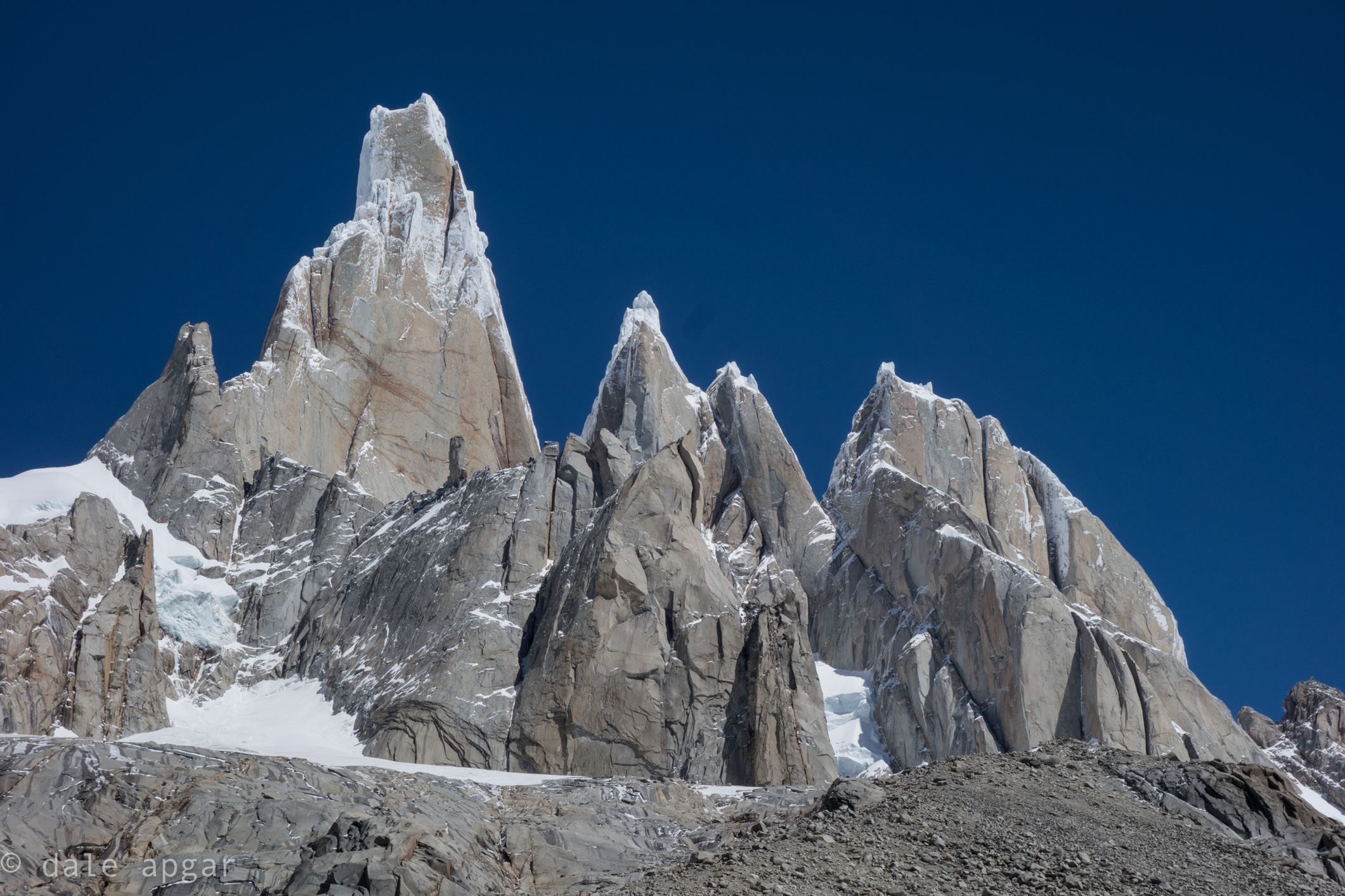 Up close and personal with the Torre Massif