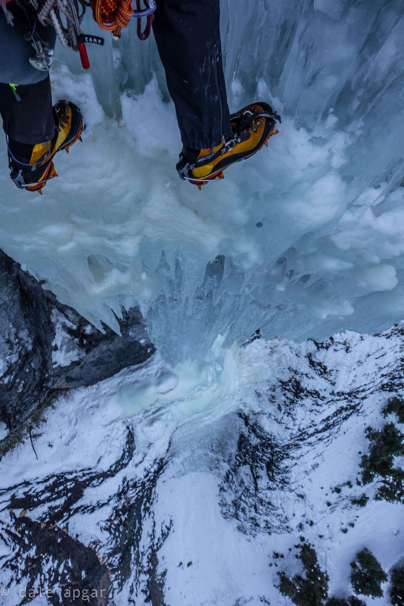 Getting on the last pitch of Ouray's  Talisman