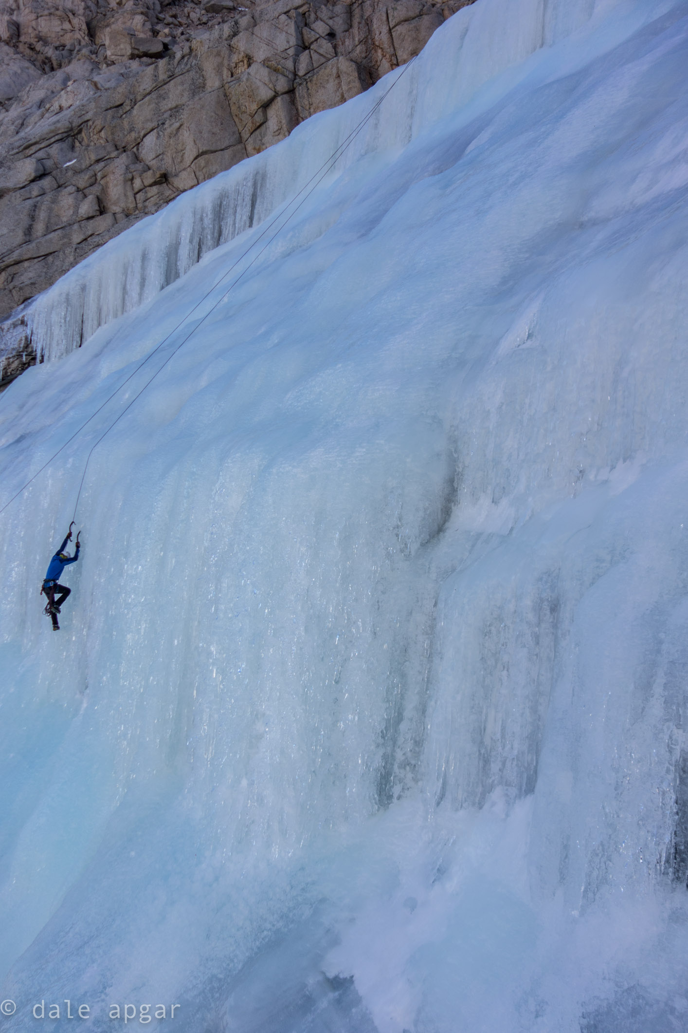 Aaron Richards getting early laps in below the Whitney Massif
