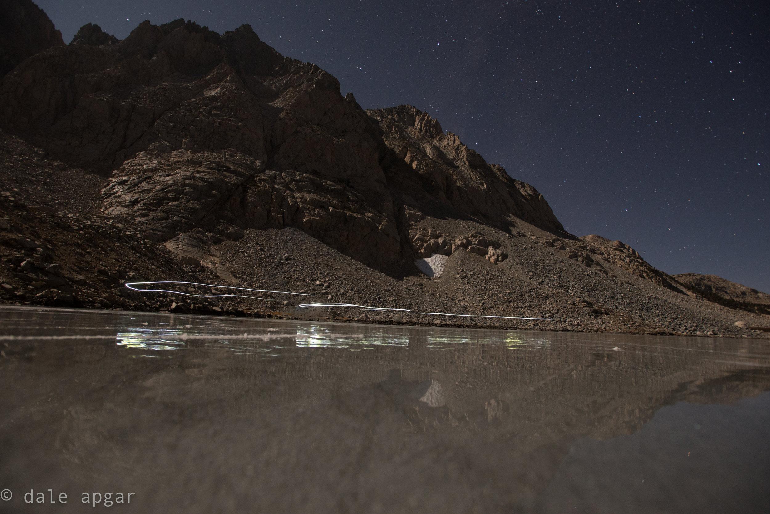 moon-lit alpine lake skating sure was fun