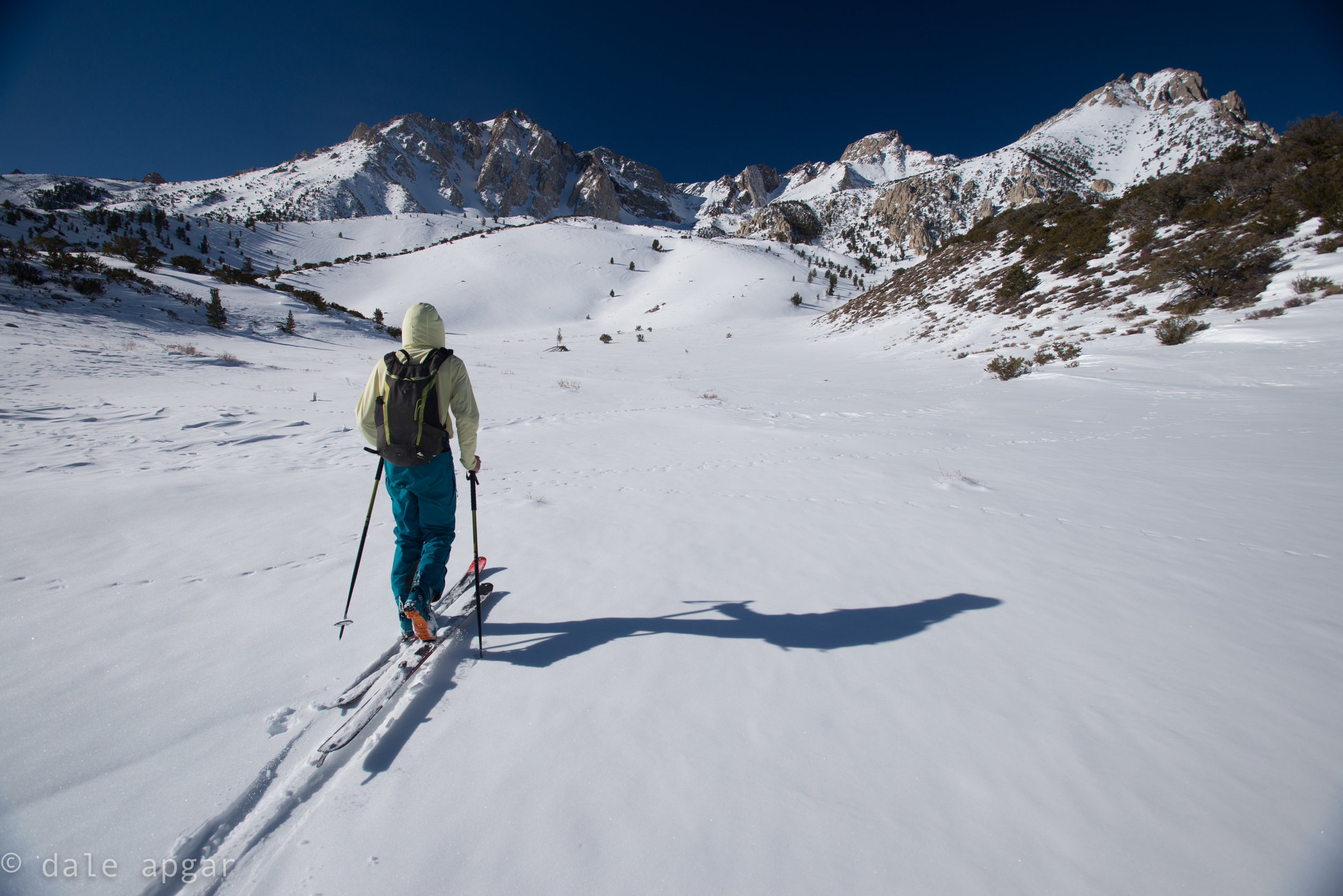 On the march back to Mt. Locke, chasing the Wahoo Gullies