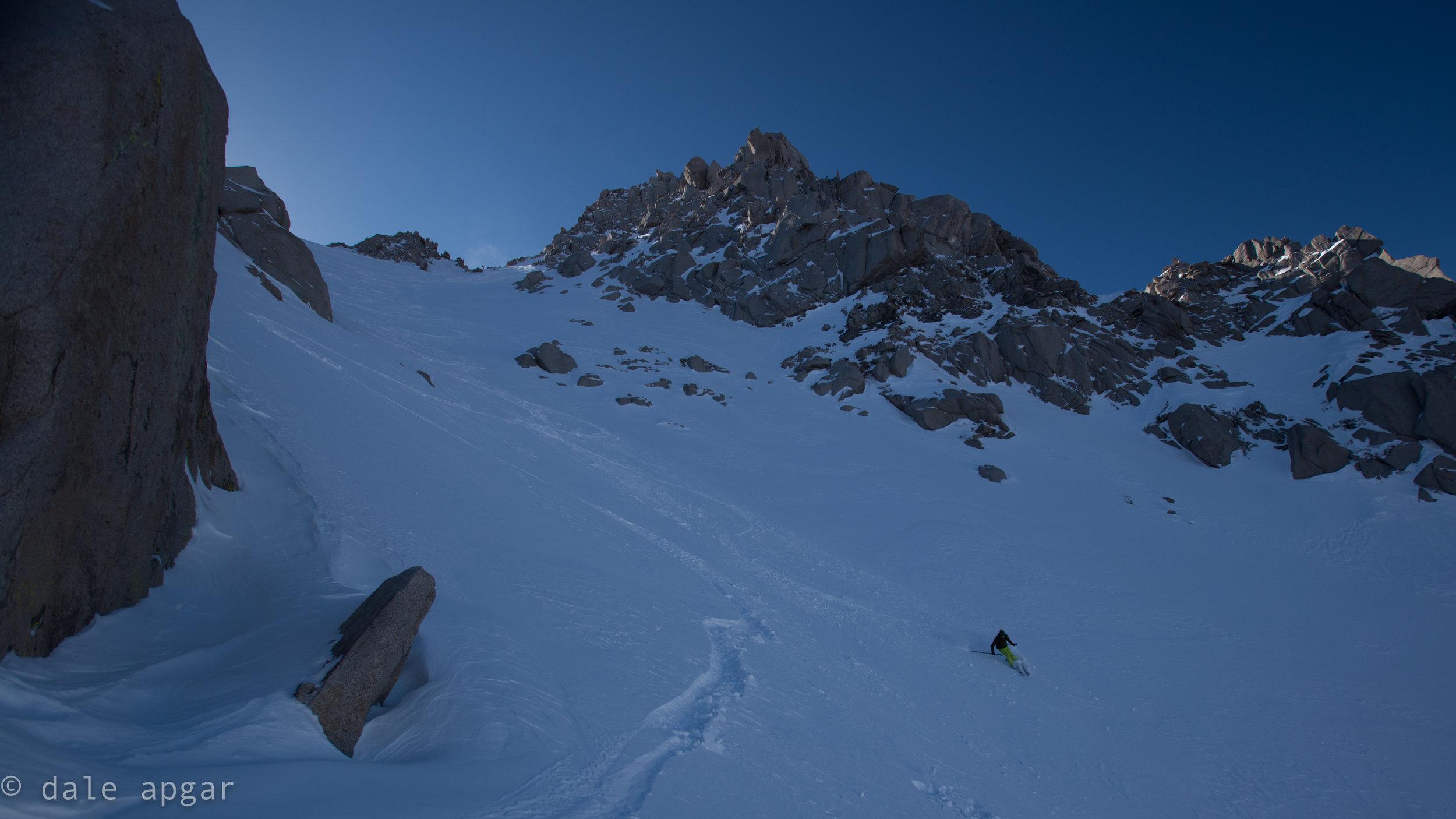 Descending Bradley's NE Chute