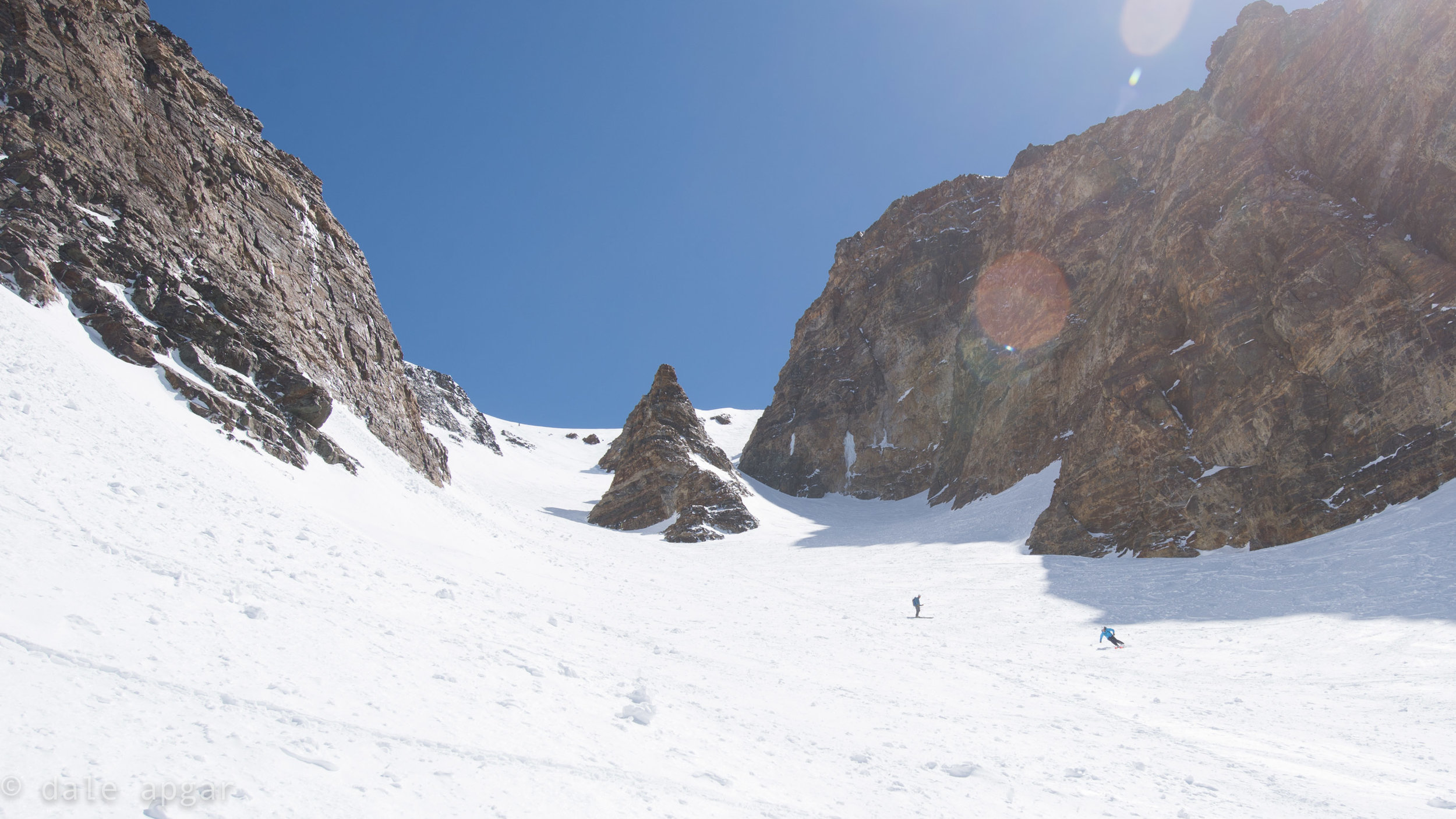 Putting spring tracks in Bloody Mountain's fabled Bloody Couloir…from and to the car.