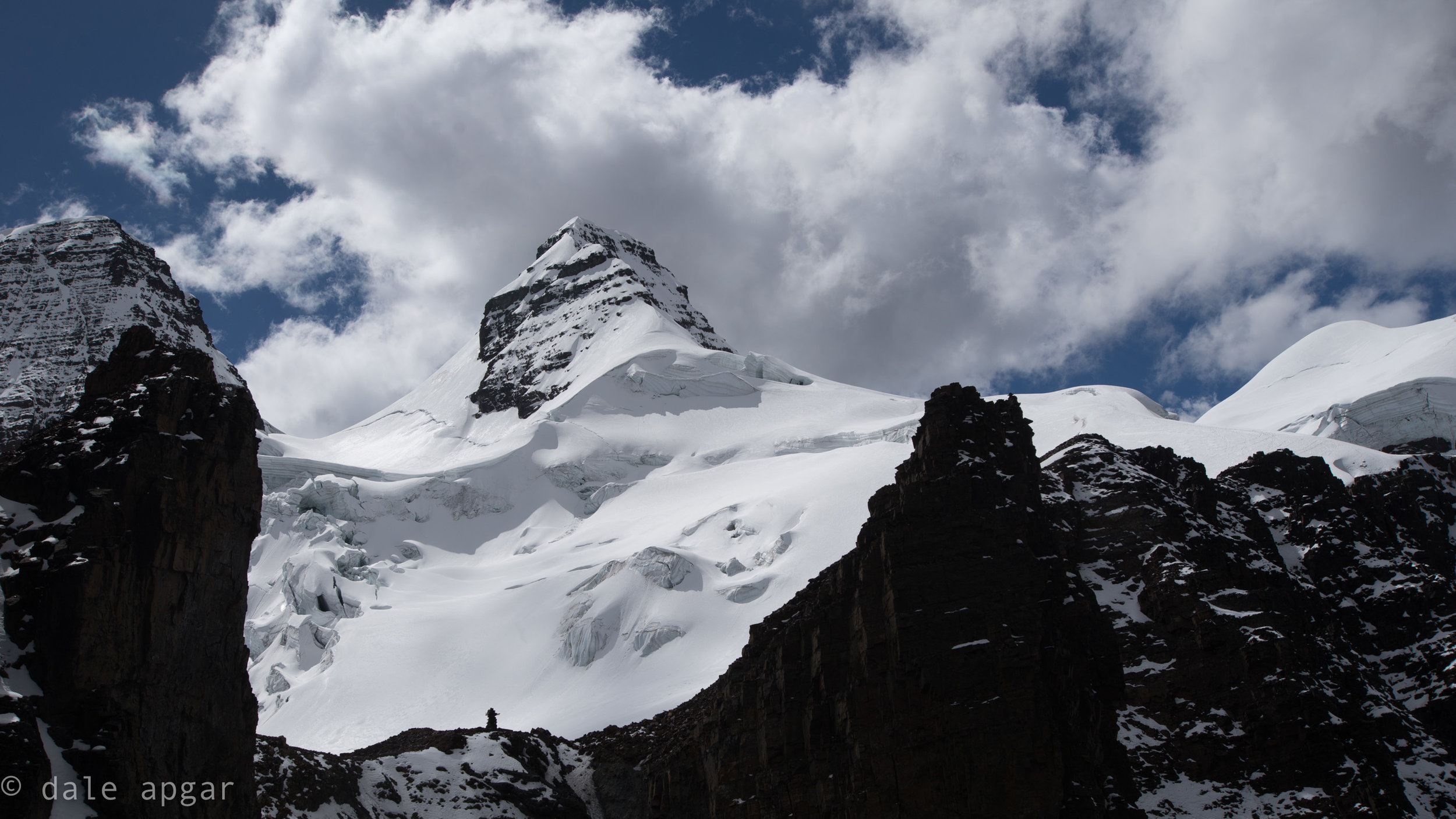 "Cabeza de Condor, or, ""Head of the Condor,"" the most prominent peak in the Condoriri Group as seen from the approach"